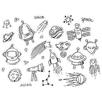 Collection of space doodles