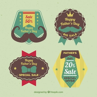 Collection of special offer father's day vintage badge