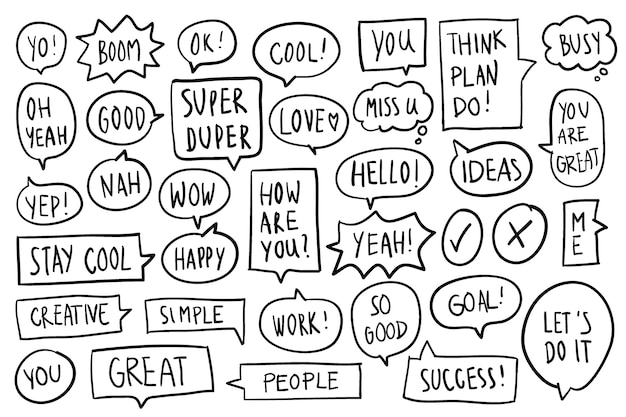 Collection of speech bubbles vector