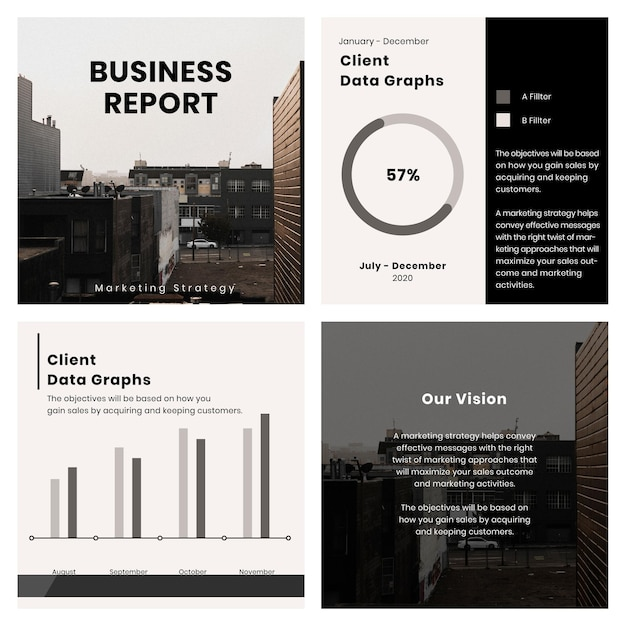Collection of square template design