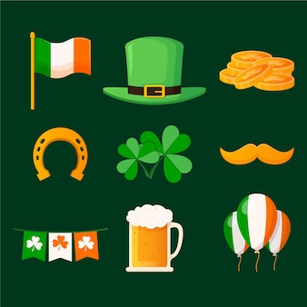 Collection of st. patrick's day elements