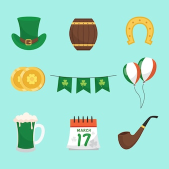 Collection of st. patrick's day hand drawn elements