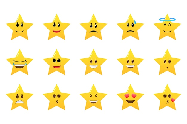 Collection of star emoticons