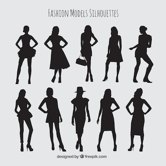Collection of stylish female models