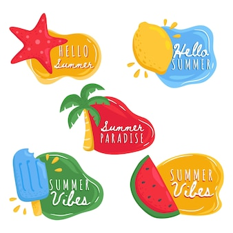 Collection of summer labels