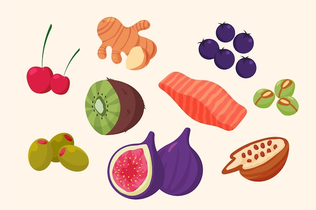 Collection of superfood