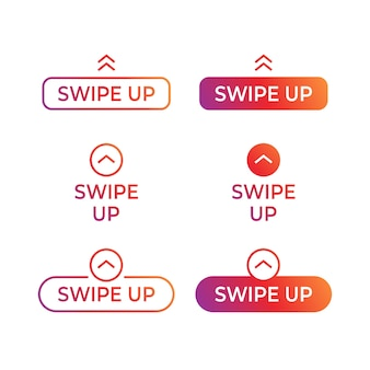 Collection of swipe up buttons