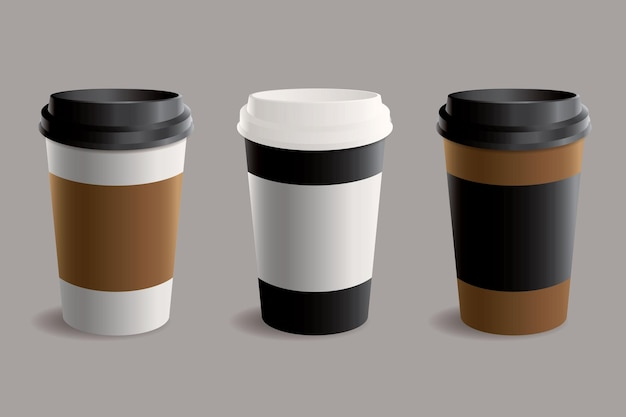 Collection of takeaway cup illustration