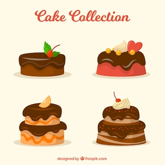 Collection of tasty cakes