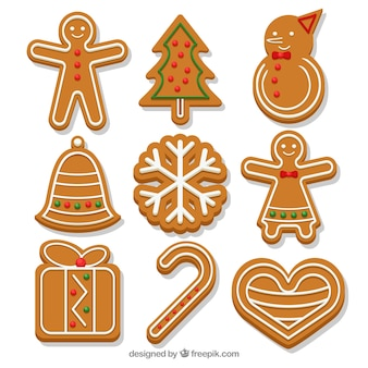 Collection of tasty gingerbread cookies