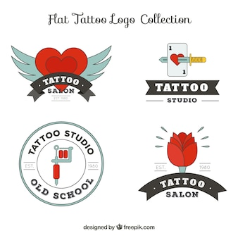 Collection of tattoo logos