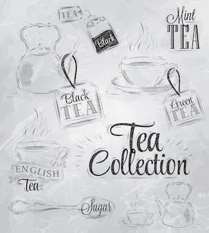 Collection tea coal