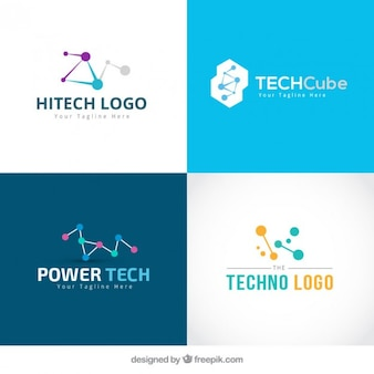 Collection of technology logos