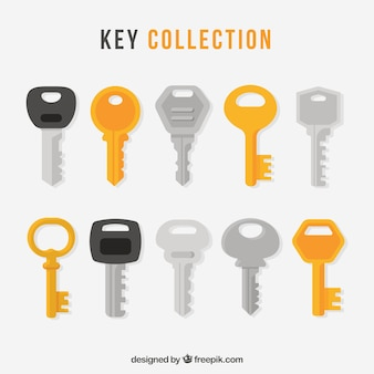 Collection of ten keys