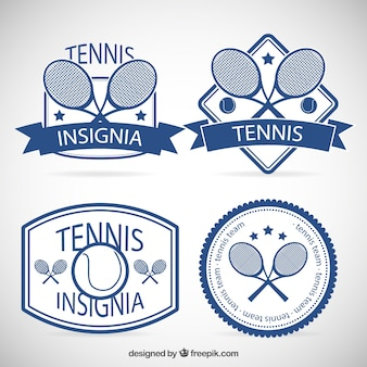 Collection of tennis insignias