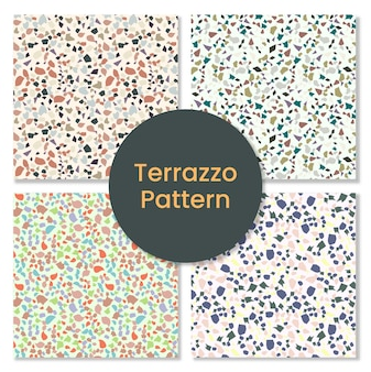 Collection of terrazzo pattern.