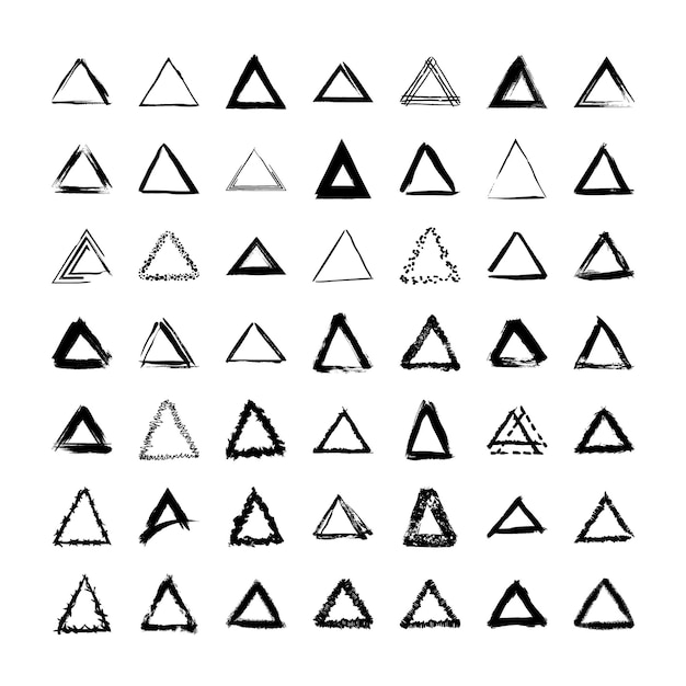 Collection of textured triangular frames