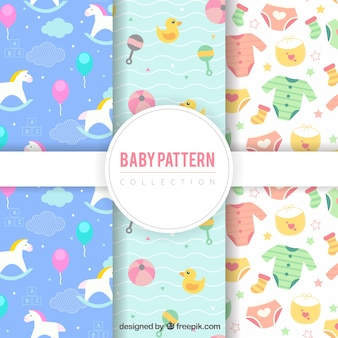 Collection of three different baby patterns