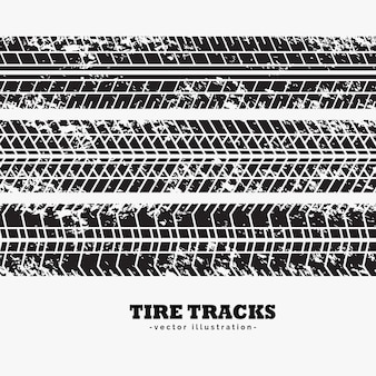 Collection of three tire tracks