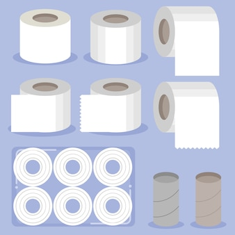 The collection of toilet paper