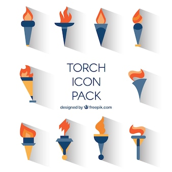 Collection of torch icons