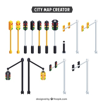 Collection of traffic lights to create a city