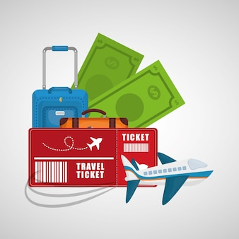 Collection travel concept tourism vacation