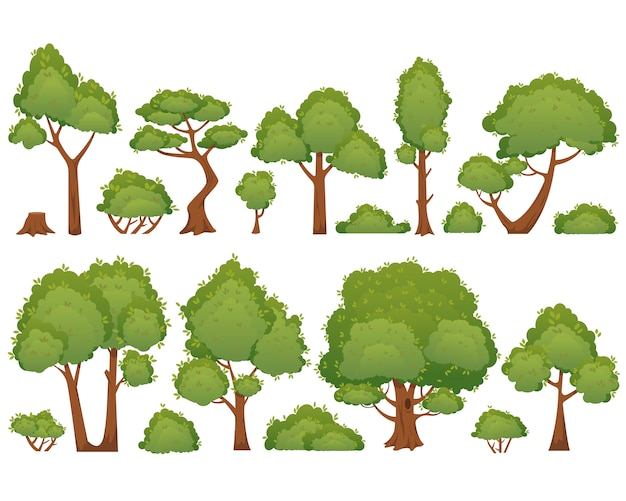 Collection tree cartoon