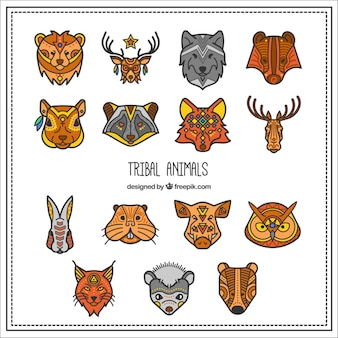 Collection of tribal animal