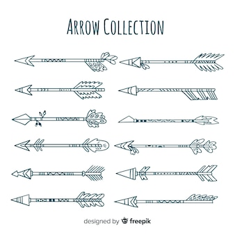 Collection of tribal arrows