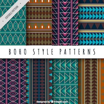 Raccolta di forme geometriche tribali