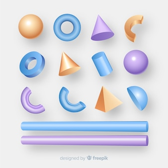 Collection of tridimensional geometric shapes