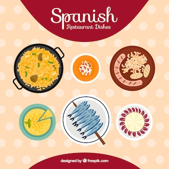 Collection of typical spanish dishes