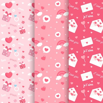 Collection of  valentine's day pattern