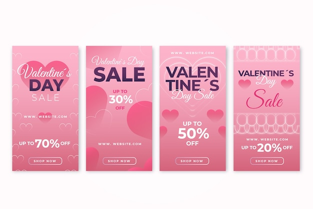 Collection of valentines day sale story