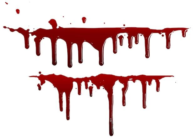 다양한 혈액 또는 페인트 뿌려 놓기