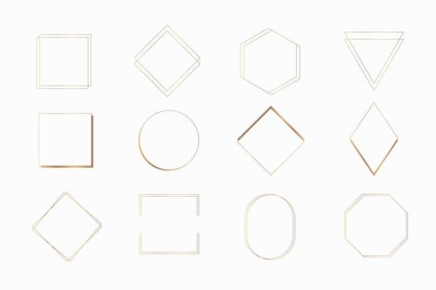Raccolta di vari modelli di cornici vettoriali
