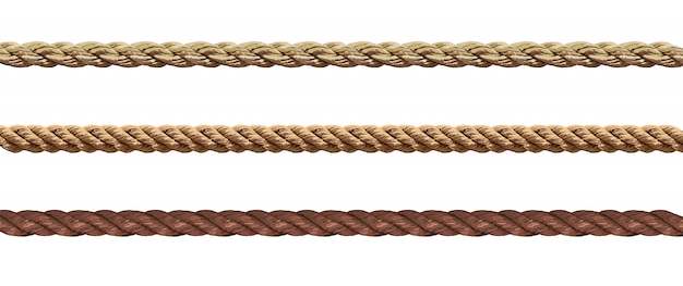 Collection of various ropes string