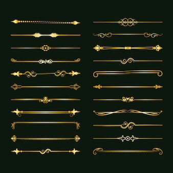 Collection of vector dividers.