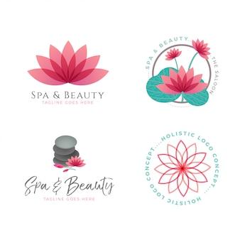 Collection of vector lotus logo templates