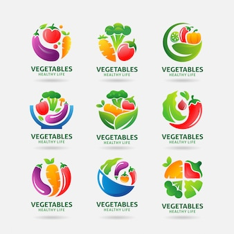 Collection of vegetables logo