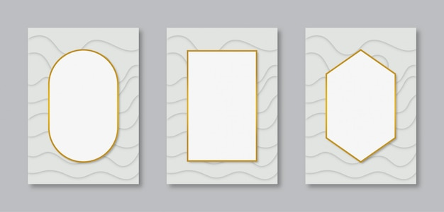 Collection vertical frame design with white space