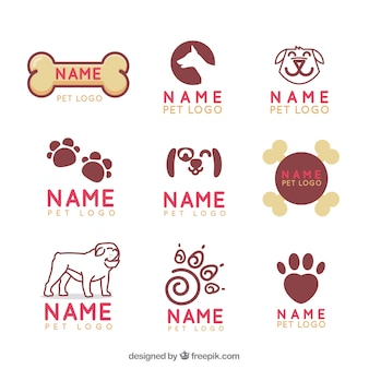 Collection of veterinary logo