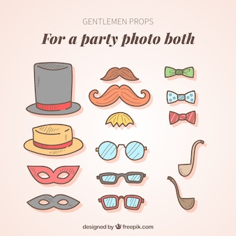 Collection of vintage accessories for photos