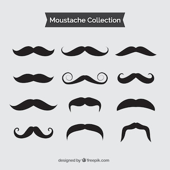 Collection of vintage black mustache