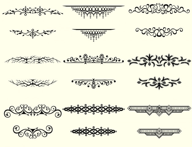 Collection of vintage borders