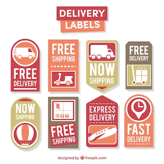 Collection of vintage delivery sticker