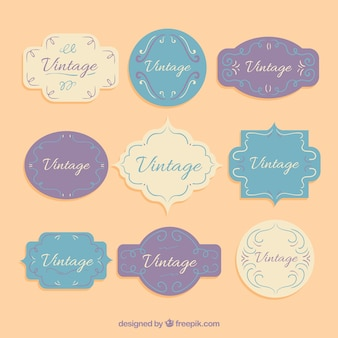 Collection of vintage elements for certificate