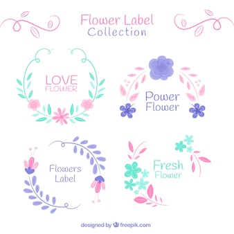 Collection of vintage flowery stickers