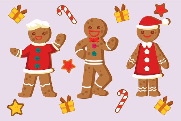 Collection of vintage gingerbread cookies
